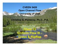 12 - Uniform Flow III - Grass & RipRap.pdf