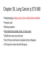 Chapter 30, Lung Cancer MM 6-12-16
