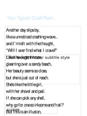 Your Typical Crush Poem
