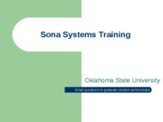 Sona Systems Training-Participant