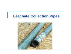 Application 6 Leachate collection pipes