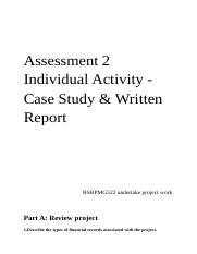 Assessment 2  Individual Activity - Case Study & Written Report