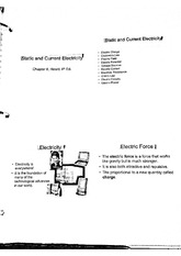 Static And Current Electricity Notes