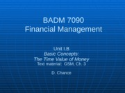 BADM 7090 IB 2013 - Basic Concepts (The Time Value of Money)-2