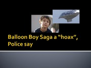 Current Events Balloon boy hoax Presentation