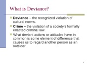Ch 6 Deviance and crime
