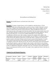 theory of melting point of recrystallized benzoic acid