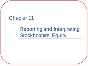 ACCT 2010 Ch. 11: Reporting & Interpreting Stockholder's Equity