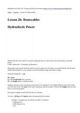 Lesson 2b  Renewables commentary