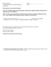 Calculating Average Atomic Mass Worksheet 9 24 15.doc ...