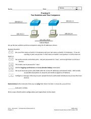 Chapter 2 - One Page Practical #2 - Two Switches and Two Computers– 5.0