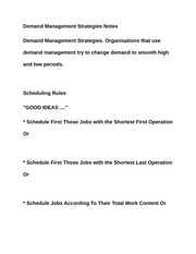 Demand Management Strategies Notes