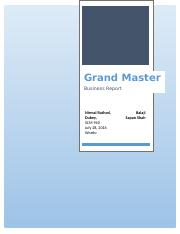 Grand Master Business Report-1