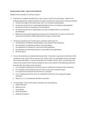 Study questions - Topic 2 2014