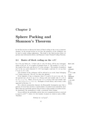 Chapter 2 Sphere Packing and Shannon's Theorem