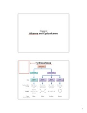Chapter 2- Alkanes and Cycloalkanes
