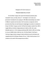 Management 450 Article Summary of