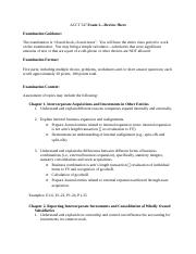Exam 1 - Review Sheet Advanced Financial Reporting