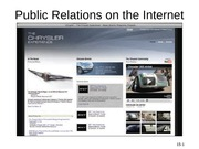 Public Relations on the Internet