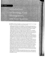 Chapter 1 Cost Management