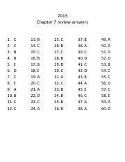 2013 ch 6 sample mc questions 89 Chapter 7 resource masters  practice at the end of the chapter extended-response rubric this master provides information for teachers and students on how to assess performance on open-ended questions quizzes four free-response quizzes offer assessment at appropriate intervals in the.