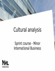 Cultural analysis - Sprint course (1).pptx