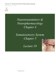 Lecture 10 - Neurotransmitters & Neuropharmacology Pt.3