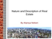 Class 2 Nature and Description of Real Estate