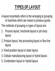 Types of Layout & Importance
