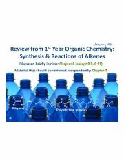Lecture 3 - Alkene & Alkyl Halide Review
