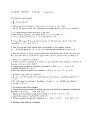 MATH 207 Fall 2013 Assignment 7