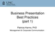 Business Presentation best practices 401 Spring 2011
