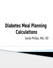 15- Meal Planning Calculations in detail
