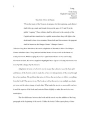 hunger games essay