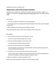 1-3 Questions for Howard Zinn