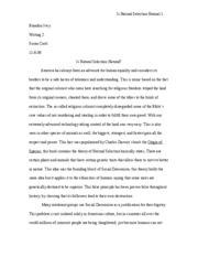 essay arguing for social darwinism