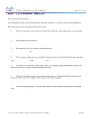 1.1.1.4 Worksheet - Ohms Law