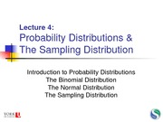 14 Lecture 4 - Probability Distributions