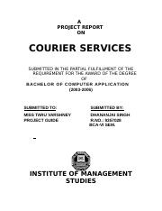 22537462-Courier-Service-A-Project-Report