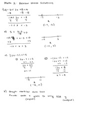 Math 002 Final Review Sheet Solutions
