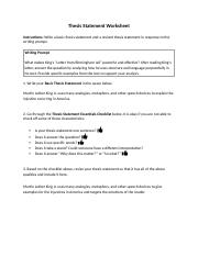thesis statement 03 06 thesis statement worksheet instructions write a basic thesis. Black Bedroom Furniture Sets. Home Design Ideas