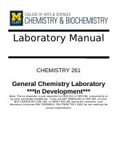 CHM 261 Updated Lab Manual for F17 2017.8.25.docx