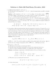 Math226 Final exam_2009December_Solution