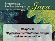 Chapter 6 - Object-Oriented Software Design and Implementation