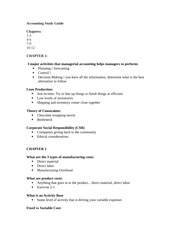 Accounting Study Guide FINAL EXAM