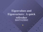 eigenvalue and eigenvector review