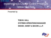 Implementing a Change Control Procedure