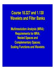 Wavelet basics Slides Day 3