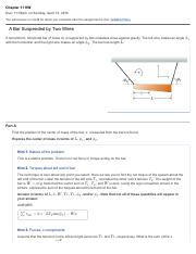 PHYS 1321 - Mastering Physics Homework Chapter 11