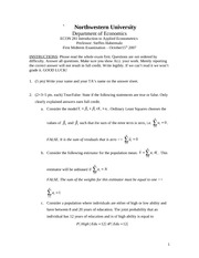 2007 Fall Midterm #1 Solutions